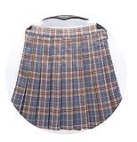 A-line Skirt Shorts High Waist Skater Skirt Plaid Pattern School Skirt Uniform Sports Skirts