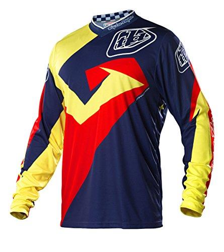 Troy Lee Designs GP Vega Youth Boys MotoX/Dirt Bike Motorcycle Jersey - Navy/Red / Medium (Troy Lee Dirt Bike Helmet)