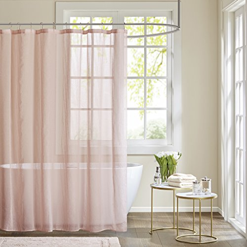 Anna Sheer Shower Curtain Pink 72x72