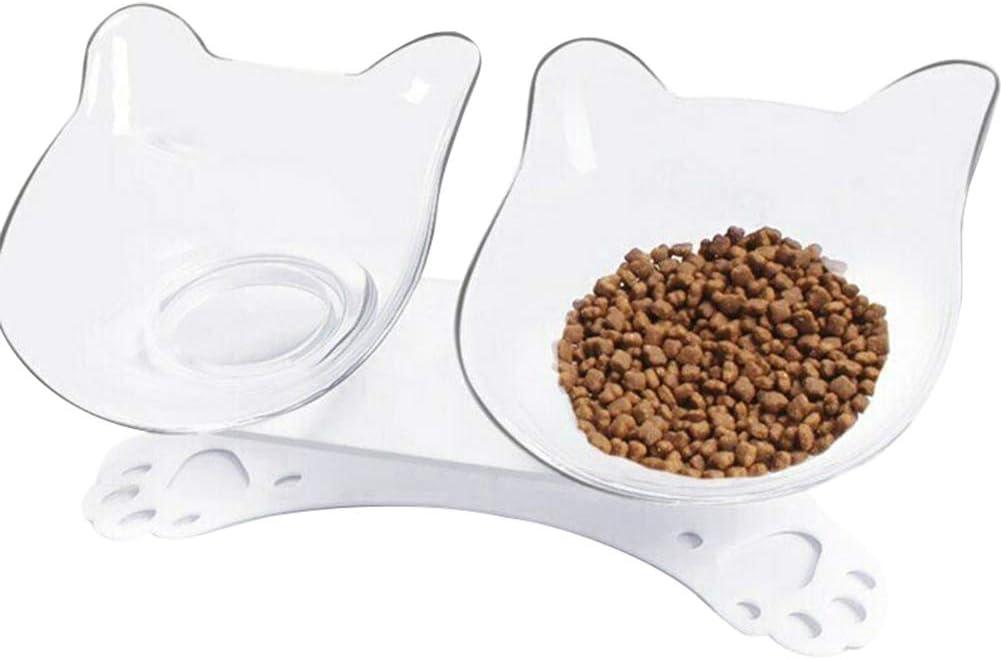 Tenflyer Anti-vómito Tazón para Mascotas ortopédico Alimento para Perros Alimentador de Agua Platos de alimentación Proteger el Cuello uterino