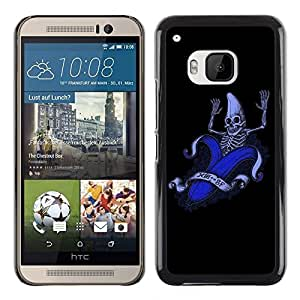 "For HTC One ( M9 ) , S-type Divertido plátano Esqueleto"" - Arte & diseño plástico duro Fundas Cover Cubre Hard Case Cover"
