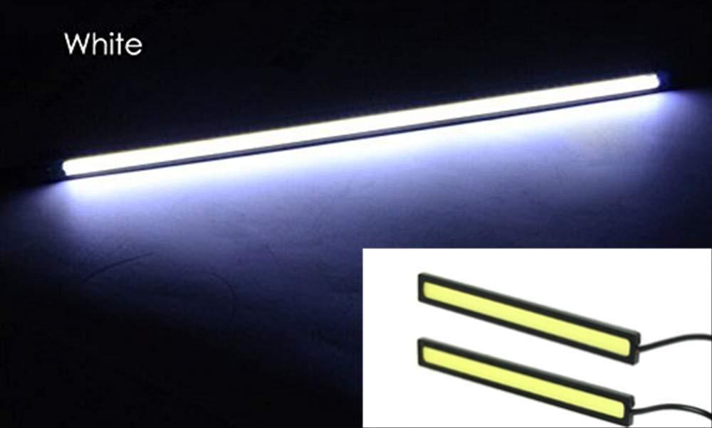 Energystation 2 x Waterproof Aluminum Daytime Running Light Super Bright DRL Lamp 17 cm 12V LED Car Lights Strips for Car Vehicle 6000K 300LM 12V