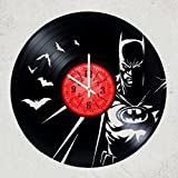 Dark Knight Batman Movie Characters DC COMICS Vinyl Record Design Wall Clock - Decorate your home with Modern Dark Knight Art - Best gift for him or her, girlfriend or boyfriend -
