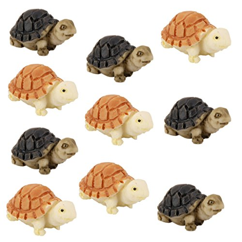 10pcs Miniature Dollhouse Bonsai Fairy Garden Landscape Tortoise Decor from MagiDeal