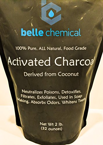 La Belle Et Lab - Organic Coconut Activated Charcoal Powder - Food Grade, Kosher - Teeth Whitening, Facial Scrub, Soap Making (1 ounce to 5 pound) (2 pounds)