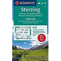 KOMPASS Wanderkarte Sterzing, Vipiteno: 4in1 Wanderkarte 1:50000 mit Aktiv Guide und Detailkarten inklusive Karte zur offline Verwendung in der ... Skitouren. (KOMPASS-Wanderkarten, Band 44)