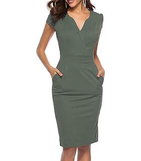 5e76a93d273e CEASIKERY Women's Business Retro Cocktail Pencil Wear to Work Office Casual  Dress