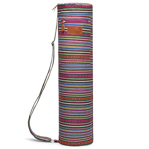 ELENTURE Full-Zip Exercise Yoga Mat Carry Bag with Multi-Functional Storage Pockets (Boho-diamond) – DiZiSports Store