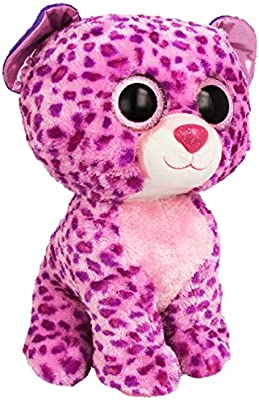 73bea386522 Amazon.com  Ty Beanie Boos Buddies Glamour Pink Leopard Large Plush  Toys    Games