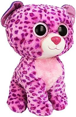 Amazon.com  Ty Beanie Boos Buddies Glamour Pink Leopard Large Plush  Toys    Games 9507793e7011