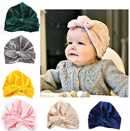 - CaJaCa Newborn Baby Toddler Cotton Hat Babys Turban Kids Knotted Hat Cap Set (KL01)