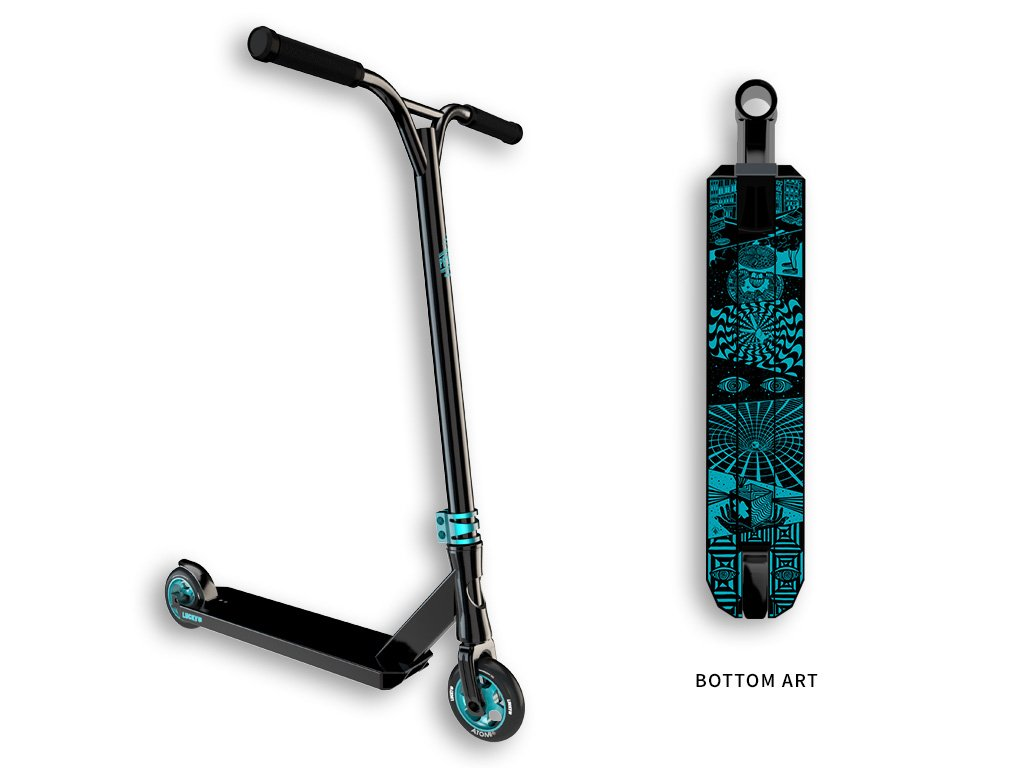 Lucky PROSPECT Complete Pro Stunt Scooter, Black