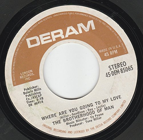 45vinylrecord Where Are You Going To My Love/Living In The Land Of Love (7