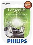 Philips 1891 LongerLife Miniature Bulb, 2 Pack