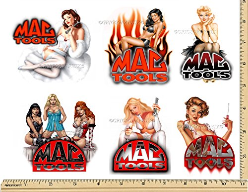 Craftsman Exterior Wall (MAC TOOLS 6 STICKER TOOLBOX SET SNAP ON CRAFTSMAN SEXY GIRL USA DECALS LAPTOP MIRROR)