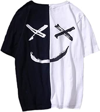 XIAOYAO Crew Neck - Camiseta para hombre Blanco y negro. M: Amazon.es: Ropa y accesorios