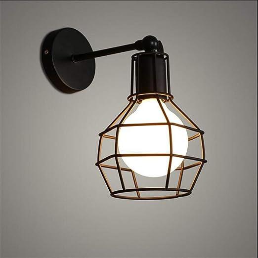 Aplique creativo Lámpara de pared estadounidense Fuego industrial ...