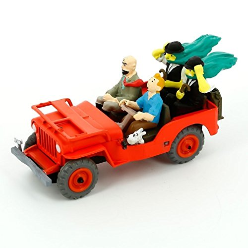 Set of 2 Tintin Cars : Jeep Willys MB Collectible 1//43 OPO 10 Taxi Checker