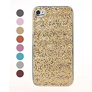 Bling Glitter Sequins Design Silver Hard Case for iPhone 4/4S , Orange