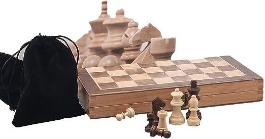 Yinghuawen Ajedrez de Madera portátil, Caja de ajedrez Plegable no ...