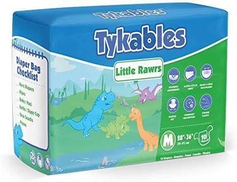 10 unidades, ABDL, almohadilla para incontinencia Pa/ñales para adultos Tykables Little Rawrs