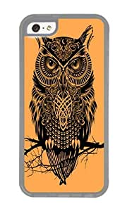 Apple Iphone 5C Case,WENJORS Personalized Warrior Owl 2 Soft Case Protective Shell Cell Phone Cover For Apple Iphone 5C - TPU Transparent