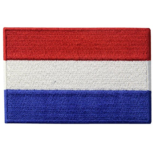 Holland Costumes Girl (The Netherlands Flag Embroidered Holland National Emblem Dutch Iron On Sew On Patch)