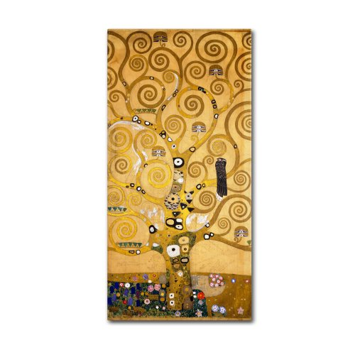 Tree of Life 'Soclet Frieze', 1905 Artwork by Gustav Klimt, 16 by 32-Inch Canvas Wall Art