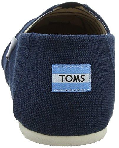 Toms Womens Classic Lino Corda Suola Comoda E Facile Da Montare Slip-on Maiolica Blu Heritage Canvas