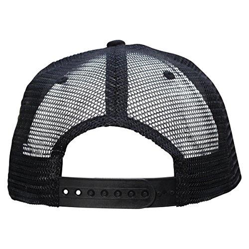 c910fe0535f1d Jumpbox Fitness Black Flat Bill Snapback Trucker Hat - Raise the Bar  Weightlifting Patch