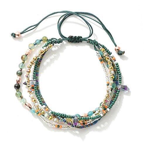 Joya Gift Adjustable Wrap Bracelet Bohemian Braided Beads Summer Beach Anklet for Women Girls by Joya Gift