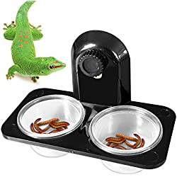 BLSMU Gecko Feeding Ledge,Crested Gecko Food Dish,Reptile Feeding Dish,Leopard Gecko Supplies for Small Pets,Lizard,Spider,Scorpion,Corn Snake,Centipede,Crickets