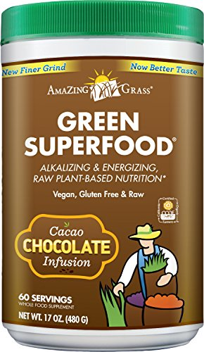 Amazing Grass Chocolate Drink Powder, Green Superfood, 17-oz. Container