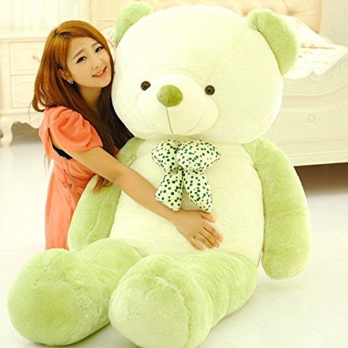 4 Teddy Bear (YXCSELL 4 FT 47 Inches Light Green And White Giant Teddy Bears Colorful Large Stuffed Plush Animals Toys for Young Ages)