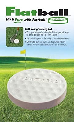 Flat Ball Golf Swing Training Aid Practice Anywhere