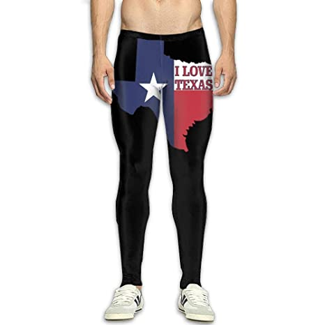 Amazon.com : NKUANYJYDKN7 Mens I Love Texas Texan Flag Yoga ...