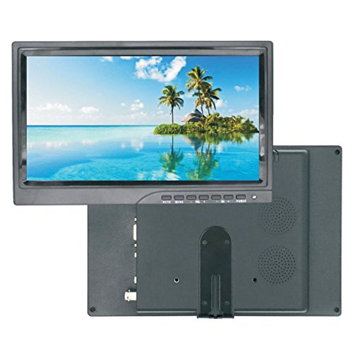 10.1 inch LCD Rear Seat Monitor Headrest DVD Player Portable Gaming Monitor With HDMI + VGA + BNC + USB + AV + Video + Audio