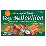 Marigold Organic Swiss Yeast Free Vegetable Bouillon Cubes (8x10.5g) - Pack of 6