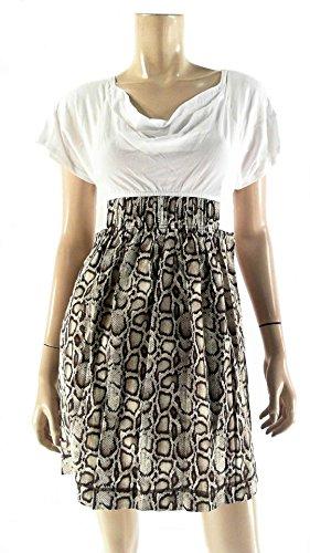 RACHEL Rachel Roy Womens Animal-Print Empire Pocket A-line Dress (Animal Print Empire Dress)