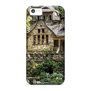 Rugged Skin Cases Covers For Iphone 5c- Eco-friendly Packaging(beautiful Old House)
