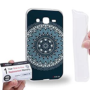 Case88 [Samsung Galaxy J2] Gel TPU Carcasa/Funda & Tarjeta de garantía - Art Fashion Bewitched Mandala Cross Art0786