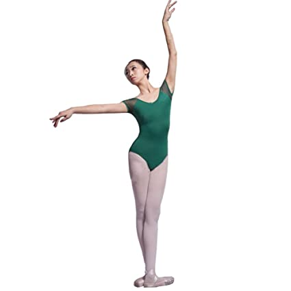 1f72c97ef5a1 Panda Superstore [GREEN] Wing Sleeve Plain Women Ballet/Dance/Gymnastics  Leotards,