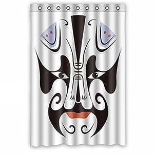 Creative Theatrical Mask Bathroom Fabric Custom Shower Curtain 48(W)x72(H)