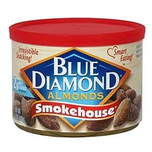 Blue Diamond Almonds Original Smokehouse, 6-Ounce Tins (Pack of 12)