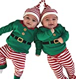EGELEXY Baby Unisex Holiday Elf Photo Props Costume Romper Onesie Size 12-18Months/Tag90 (Style Green)