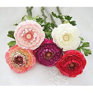Lily Garden 6 Stems Silk Ranunculus Artificial Flowers 6