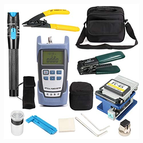 Other Instrument, LiteArk TK16 12-IN-1 Fiber Optic FTTH Tool Kit Power Meter FC-6S Fiber Cleaver
