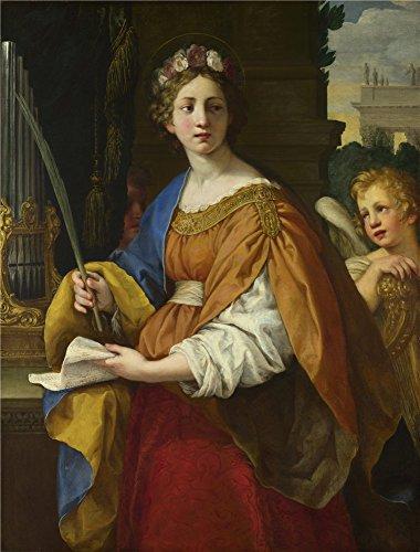 Pietro da Cortona Saint Cecilia `油絵、20x 26インチ/ 51x 67cm、の印刷ポリエステルキャンバス、この模造品アートDecorativePrintsキャンバスのはホーム、ホームシアターの装飾とギフトにピッタリの商品画像