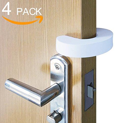 Door Finger Pinch Guard, Foam Door Stopper Upgrade Version, Thick Design, Prevents Children Finger Pinch Injuries, Child Safety by CalMyotis (4pack) from CalMyotis