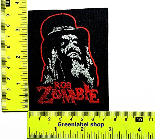 Rock N Roll Zombie Costume (Rob Zombie Bob Marley Music Reggae Ska Jamaica Punk Hip Hop Patch Logo Sew Iron on Embroidered Appliques Badge Sign Costume Send Free Registration)